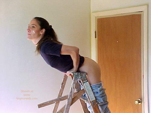 Pic #6 - SO Aalanya On A STEP Ladder