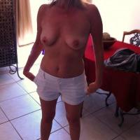 Medium tits of my wife - slutwife