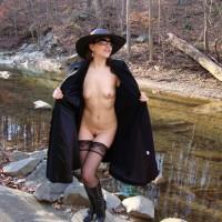 Long Coat Shenanigans - Lingerie, Small Tits