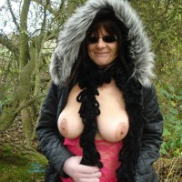 Winter Nude Walk - Big Tits, Brunette Hair, Exposed In Public, Flashing Tits, Flashing, Hanging Tits, Huge Tits, Large Breasts, Nude In Nature, Nude In Public, Nude Outdoors, Showing Tits, Snow, Sunglasses, Sexy Boobs, Sexy Woman