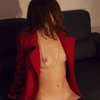 Nude Under My Coat - Medium Tits, Lingerie, Natural Tits, Shaved