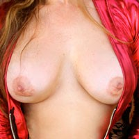 Sexy Red Robe - Big Tits