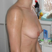 Girl From Over The Road - Medium Tits, Wet