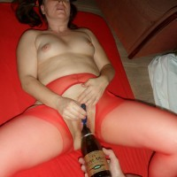 Happy New Year With Champagne - Lingerie, Medium Tits, Toys, Brunette