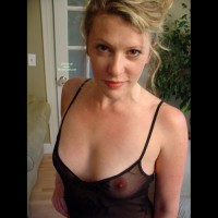 Sexy Wife See-through Top - Blonde Hair, Brown Eyes, See Through, Looking At The Camera, Sexy Face