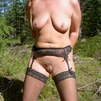 Outdoor Nylons - Big Tits, Lingerie, Nature