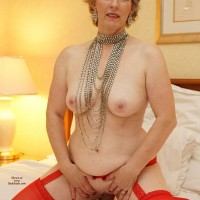 Horny in Red Again - Lingerie, Mature, Toys