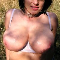 Very large tits of my girlfriend - Julia