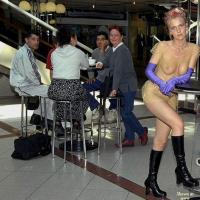 Naked Resto Visit - Public Exhibitionist, Public Place