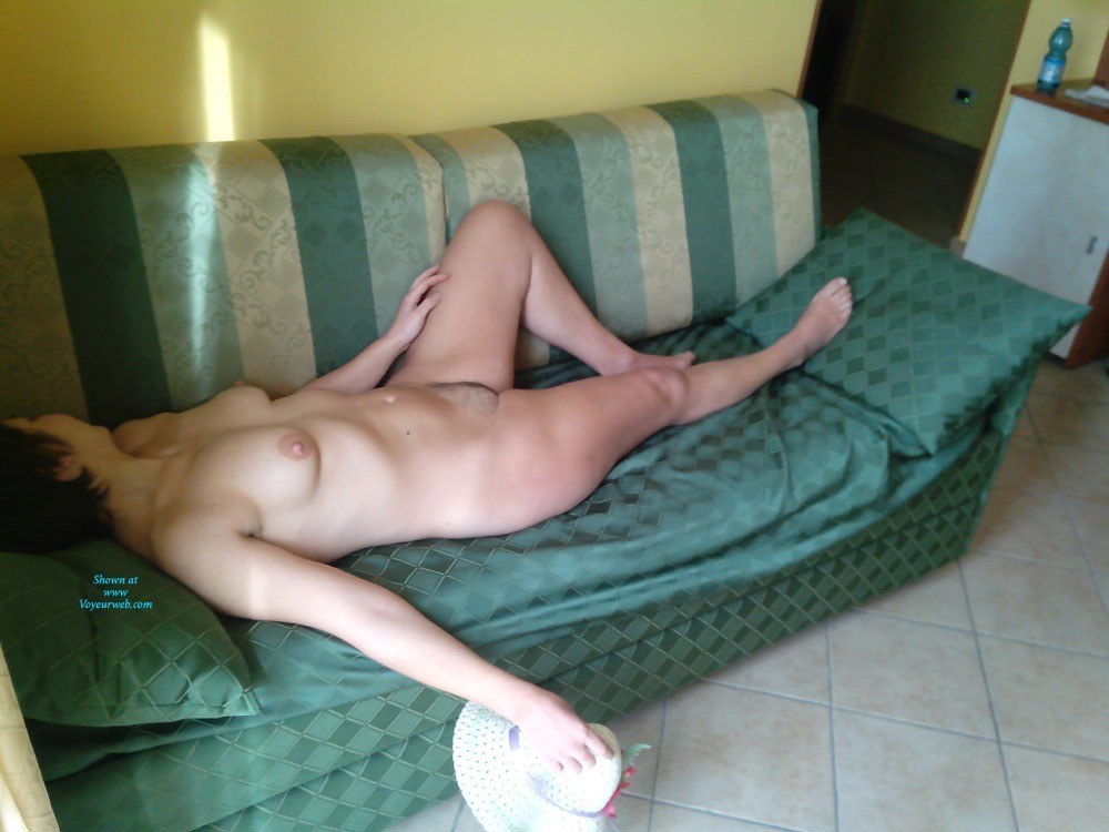 Pic #1 - Freedom: On The Green Couch Part 2 - Hairy Bush, Perfect Tits , Second Part