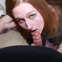 Have Fun With A Dick - Close Up, Indoors, Red Hair, Redhead, Hot Girl, Sexy Face, Sexy Woman, Blowjob, Swallow Cum