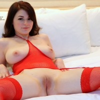 Caught in The Act... - Brunette, Masturbation, Shaved, Toys