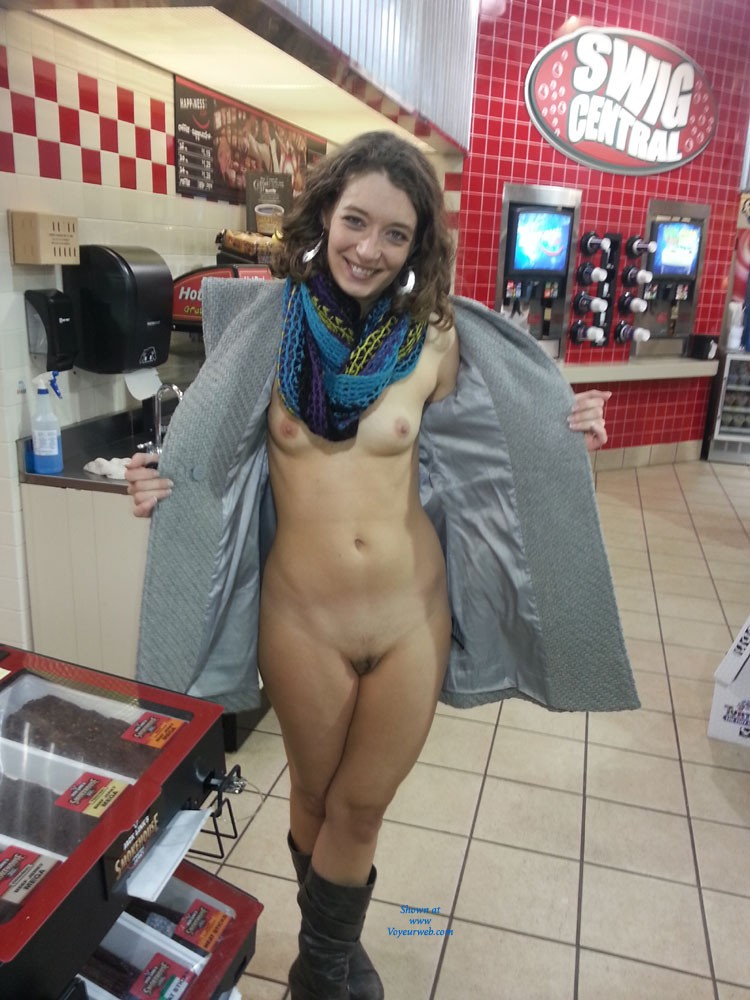 TNMilf at It Again! - Brunette Hair, Exposed In Public, Nude In Public, Small Tits , She Is Really Loving Showing Off Around Town And She Gets More And More Brave Each Time! Thank You  So Much For Your Hot And Horny Comments! We Are Trying To Get Back To You But The Responses Have Been A Bit Overwhelming! We Hope You Enjoy Our Pics And We Apologize For The Quality But They Are Taken With Our Phones.