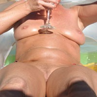 Nude Pool - Natural Tits, Shaved