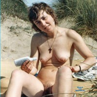 First Time in Public - Beach, Brunette, Medium Tits, Bush Or Hairy