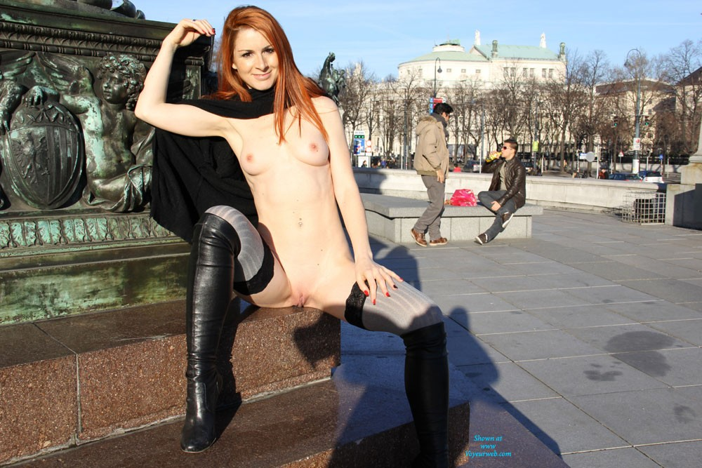 Pic #1 - Vienna Naked Downtown - Exposed In Public, Flashing, Nude In Public, Perfect Tits, Redhead, Shaved, Sexy Lingerie , There Are So Many Wonderful Places All Around The World, Animating And Thrilling, Pulsating And Exciting And I Lost My Heart On Many Of These Places And Met Many Lovely People ... Vienna Will Always Belong To My Favourite Metropols, Million People Live In And Visit Vienna And The Surprising And Positive Reactions Of The People Make Me Hot Every Time! A Special Thanks To My Longtime Follower, Extras For You Soon! Kisses Vienna