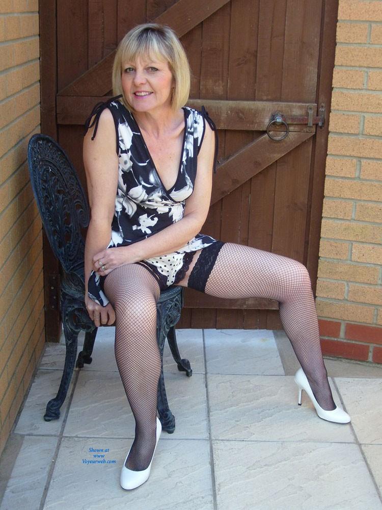 Pic #4 Sexy Joy - Blonde, High Heels Amateurs, Lingerie, Mature
