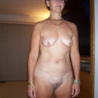 Medium tits of my wife - A naked grandma