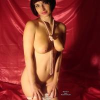 Sexy White Lingerie - Big Tits, Brunette, Lingerie