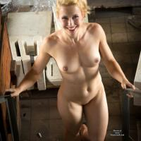 On Housetop - Blonde Hair, Nude Outdoors