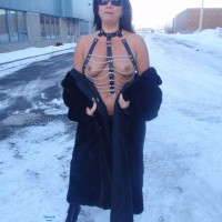Big Tits On A Cold Day - Big Tits, Boots, Brunette Hair, Exposed In Public, Flashing Tits, Flashing, Heels, Nude In Public, Nude Outdoors, Showing Tits, Snow, Hot Girl, Sexy Boobs, Sexy Face, Sexy Girl, Sexy Woman, Dressed