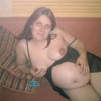 Brenda With Baby - Big Tits, Brunette, Lingerie