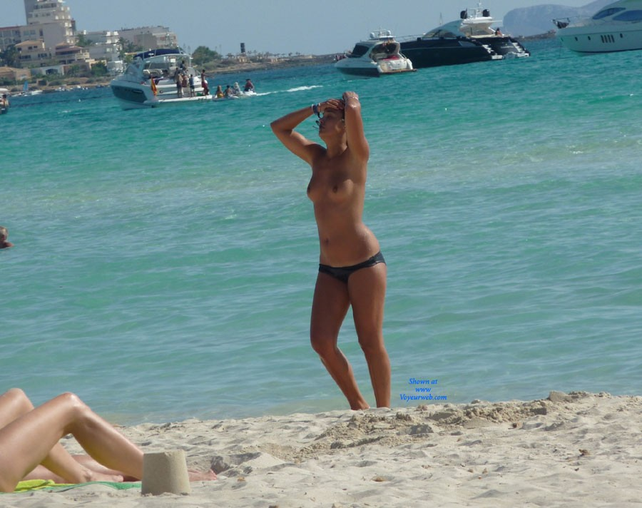 Boobs In Italian  Spanish Beaches - February, 2014 - Voyeur Web-4476