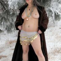 Medium tits of my wife - LL