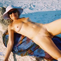 Linda at The Beach - Big Tits, Beach Voyeur