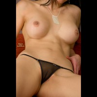 Shaved Pussy With Shear Black Thong - Pierced Nipples, See Through, Shaved Pussy