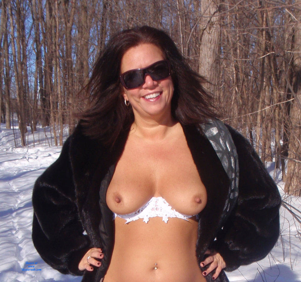 Pic #1 - Snow White - Big Tits, Brunette Hair, Sexy Lingerie , This Winter Is Too Long, We Needed Something To Heat Up And Melt The Snow...