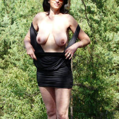 Fresh Air In The Woods - Big Tits, Boots, Brunette Hair, Exposed In Public, Flashing Tits, Flashing, Nude In Nature, Nude In Public, Showing Tits, Hot Girl, Sexy Body, Sexy Boobs, Sexy Face, Sexy Figure, Sexy Girl, Sexy Legs, Sexy Woman, Dressed