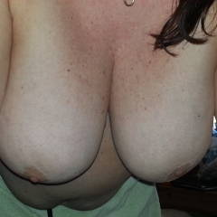 Very large tits of my wife - chesty pillows