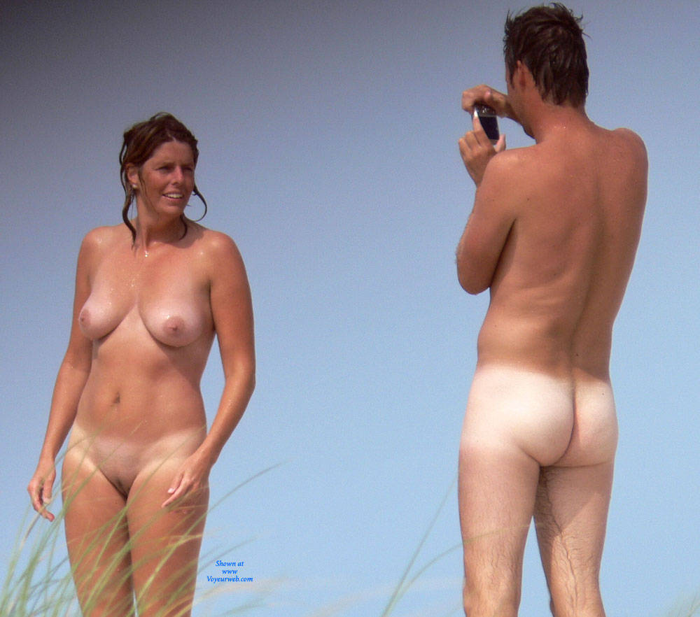 Pic #1 - First Time Nude! - Big Tits, Beach Voyeur , First Time Nude On The Beach