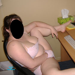 Watching a Movie - Big Tits, Lingerie