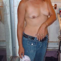 Very small tits of my wife - choo choo