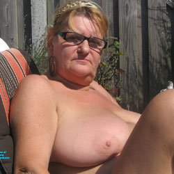 Sunbading Into My Garden - Big Tits, Mature, BBW