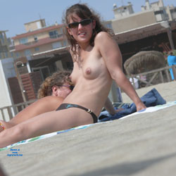 Sitting Topless At The Beach - Bikini, Brunette Hair, Erect Nipples, Exposed In Public, Firm Tits, Hard Nipple, Nipples, Nude Beach, Nude In Public, Nude Outdoors, Showing Tits, Topless Beach, Topless Girl, Topless Outdoors, Topless, Beach Tits, Beach Voyeur, Sexy Body, Sexy Boobs, Sexy Figure, Sexy Girl, Sexy Legs, Sexy Woman
