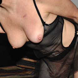 Sara in Fishnets - Lingerie, Shaved, Big Tits
