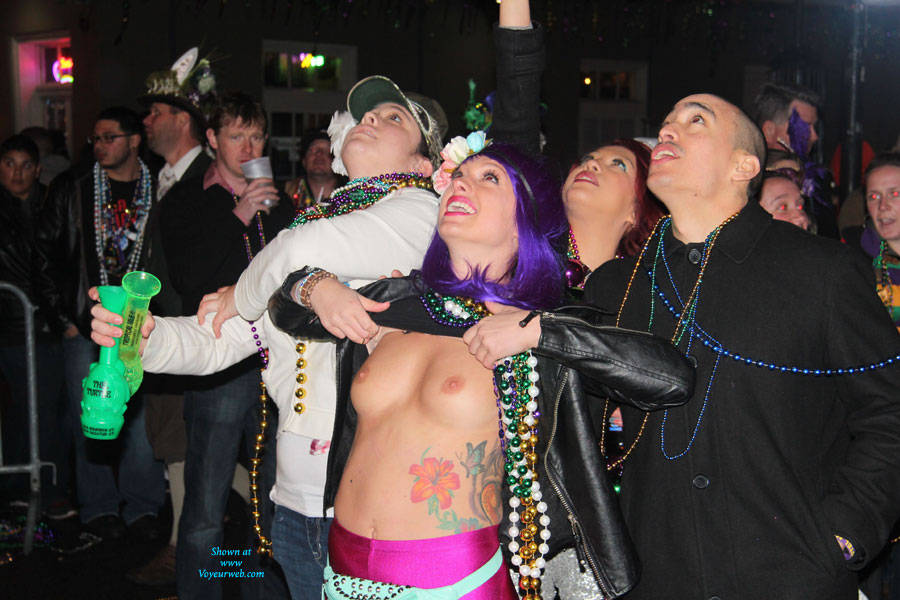 Mardi Gras Nudity Again - Big Tits, Exposed In Public, Flashing Tits, Flashing, Nude In Public, Perfect Tits, Showing Tits, Small Tits, Hot Girl, Sexy Boobs, Sexy Face, Sexy Girl , Blue Hair, Nude In Public, Big Tits, Nipples, Tattoo, Flashing
