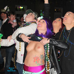 Mardi Gras Nudity Again - Big Tits, Exposed In Public, Flashing Tits, Flashing, Nude In Public, Perfect Tits, Showing Tits, Small Tits, Hot Girl, Sexy Boobs, Sexy Face, Sexy Girl