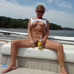 Temptation On The Boat - Big Tits, Blonde Hair, Exposed In Public, Hairy Bush, Hairy Pussy, Huge Tits, No Panties, Nude In Nature, Nude In Public, Nude Outdoors, Perfect Tits, Pussy Lips, Showing Tits, Spread Legs, Sunglasses, Hot Girl, Sexy Boobs, Sexy Face, Sexy Girl, Sexy Legs, Sexy Woman