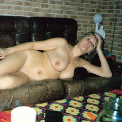 Watching TV - Big Tits, Striptease