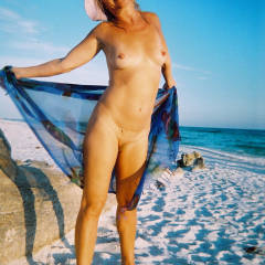 More of Linda at The Beach - Beach, Medium Tits
