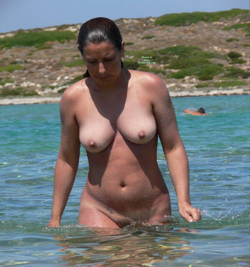 Greek island nude beach girls