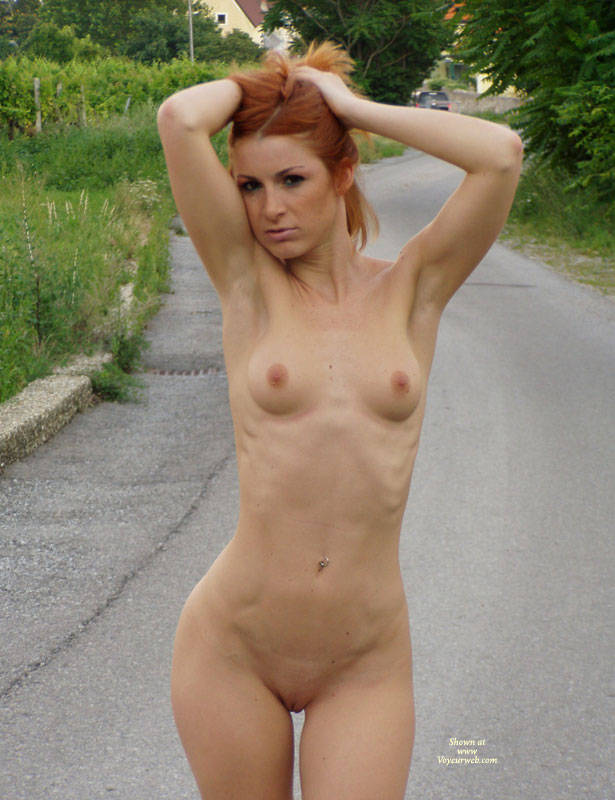 Can small tits average redhead