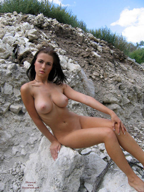 Outdoor Frontal Nude - Big Tits, Brown Hair, Nude Outdoors, Naked Girl, Nude Amateur , Perfect Breasts, Trim Body, Perfect Body Nude Outside, Outside Naked, Nude In Nature, Posing Outdoor, Sitting Naked On Rocks
