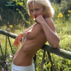 Topless Blonde Standing - Blonde Hair, Topless