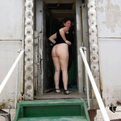Nude Girl: Lisajane At The Arizona Railway Museum