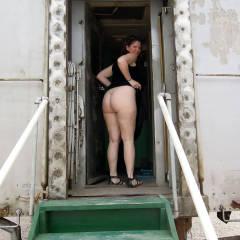Nude Girl:Lisajane At The Arizona Railway Museum